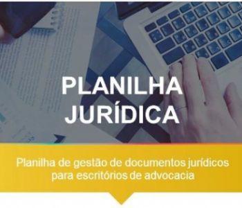 Planilha de gestão de documentos jurídicos em escritórios de advocacia
