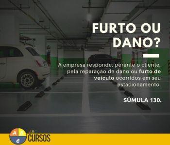 Responsabilidade da empresa perante ao cliente, pela reparação de dano ou furto de veículo ocorridos em seu estacionamento