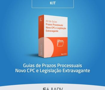 Kit disponibiliza gratuitamente guia com prazos processuais de diversas áreas do Direito